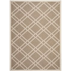 Shop for Safavieh Indoor/ Outdoor Courtyard Brown/ Bone Rug (6'7 x 9'6). Get free shipping at Overstock.com - Your Online Home Decor Outlet Store! Get 5% in rewards with Club O!