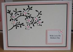 handmade card for mothers day