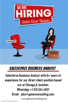 We Are Urgently Hiring ! Salesforce Business Analyst with years of experience for our direct client position based out at Chicago,IL location. Join Our Team, We Are Hiring, Business Analyst, Job Opening, C2c, 6 Years, Chicago, Positivity, Optimism