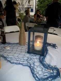 DIY nautical party center pieces lanterns