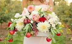 яблоки в декоре свадьбы