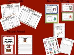 December Literacy Centers for First AND Second Grade (FREEBIE too) Second Grade Freebies, Christmas Language Arts, Holidays Around The World, Teaching Time, Literacy Centers, First Grade, Prompts, December, Bullet Journal