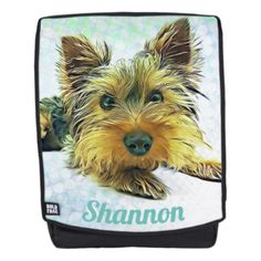 Custom Pastel Puppy Dog Yorkie Yorkshire Terrier Backpack - dog puppy dogs doggy pup hound love pet best friend