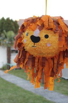Lion Birthday Party, Lion Party, Safari Theme Birthday, Birthday Pinata, Lion King Birthday, Jungle Party, Safari Party, Animal Birthday, Boy Birthday