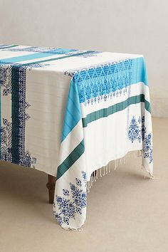 If only i had a table. obsessed with this Handwoven Alinda Tablecloth #anthropologie