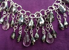 Shimmering Smokey Quartz Teardrops And Amethyst by BeriMadeJewelry, $30.00