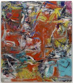 Da Kandinsky a Pollock. Willem de Kooning. Composizione, 1955. Olio, smalto e carboncino su tela, cm 201 x 175,6. New York, Museo o Solomon R. Guggenheim. Lascito Hannelore B. Schulhof, 2012