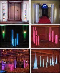 illuminated led columns