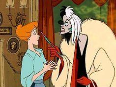 Cruella Deville, Cruella Deville. If she doesn't scare you no evil thing will!