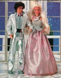 Jewel Secrets Barbie and Ken.  Her dress was a bag, and well, he was a....dude