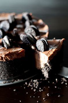 No-Bake Nuttella and Oreos Cheesecake (without eggs or butter) - French blog Cuisine en Lucie