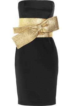 Holiday Dressing: Notte by Marchesa Bow-front silk-crepe dress Designer Clothes Sale, Discount Designer Clothes, Designer Dresses, Crepe Dress, Silk Crepe, Dress With Bow, Dress Me Up, Vestidos Marchesa, Marchesa Dresses