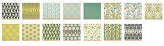 Birch farm fabric collection green, aqua, grey, chartreuse, Joel Dewberry