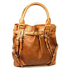 Cognac Textured Buckled Bag HandPicked: $68.00