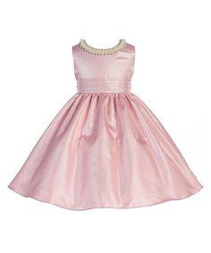 Love this Crayon Kids Pink Embellished A-Line Dress - Toddler & Girls by Crayon Kids on #zulily! #zulilyfinds