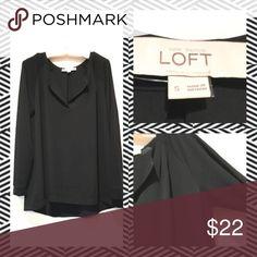LOFT Black Long Sleeve Top ⚫️Professional Look                                          ⚫️One Wear/One Wash LOFT Tops Blouses
