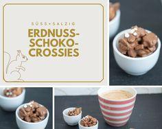 Nach Partys bleiben regelmäßig Erdnüsse übrig? Die sind viel zu schade zum Wegwerfen! Mit etwas Schoki werden daraus leckere Erdnuss-Schoko-Crossies!