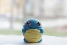 Pokemon Squirtle Egg Shaped Figurine / Collectible Toy / Birthday Cake Topper by Naboko Studio