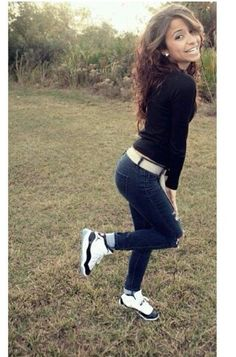 This girl is so beautiful and I love this outfit (BUT THEM JORDANS THO