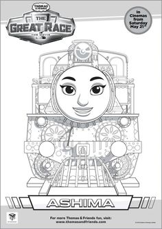 Thomas Amp Friends The Great Race Colouring Pages