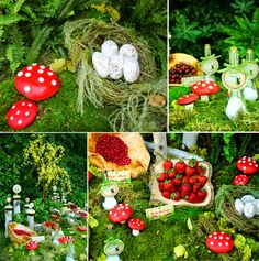"""tablescape"" cover the table in all things green so the rest of the things on the table will POP"