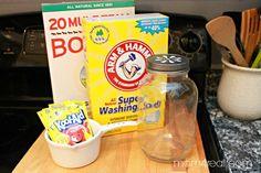 Make your own homemade dishwashing detergent - ingredients