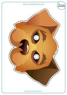Elige entre nuestra colección de caretas de animales para imprimir ¡mira qué perro!