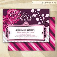 Flowers & Lace Bridal Shower CUSTOM PRINTABLE Invitation by HWTM!