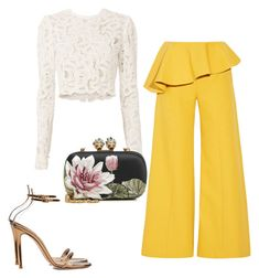 """""""Mood"""" by anniemakuti on Polyvore featuring Gianvito Rossi, Rosie Assoulin, A.L.C. and Alexander McQueen"""