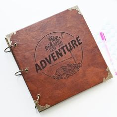Custom Travel log Engraved Photo Album/Adventure Photo album/ Kraft Sc – DokkiDesign
