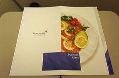 Asiana Airlines Menu Business Class