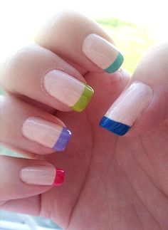 Multi-colored french tips