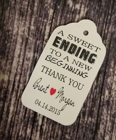 Hey, I found this really awesome Etsy listing at https://www.etsy.com/listing/216060630/sweet-ending-to-a-new-beginning-thank