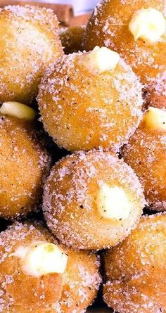 Snickerdoodle Poppers with Creamy Vanilla-WhiteCchocolate Filling