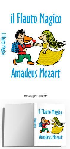 """il flauto magico"" Amadeus Mozart Serpieri, Amadeus Mozart, Book Covers, Illustration, Books, Libros, Book, Illustrations, Book Illustrations"