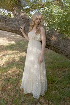 Vintage Lace Wedding Dresses 1970s Hippie by DaughtersOfSimone, $552.00