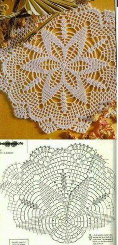 Crochet Table Runner, Crochet Tablecloth, Crochet Doilies, Crochet Yarn, Crochet Motif Patterns, Crochet Mandala, Love Crochet, Crochet Accessories, Crochet Projects