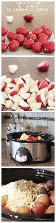 Crock Pot Garlic Parmesan Mashed Potatoes