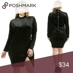 Plus size black velvet Dress 1x 2x 3x 1x 2x 3x Plus size black velvet Dress Dresses