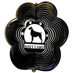 "12"" Brittany - Black Starlight Wind Spinner. #brittany"