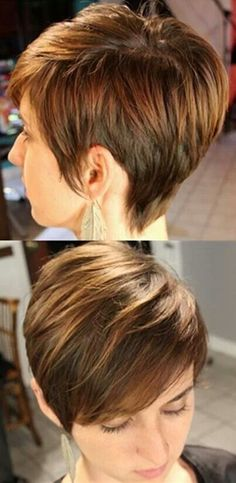Cute Everyday Hairstyles for Straight Hair: Short Pixie Haircut by kenya