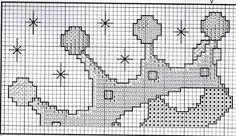 Resultado de imagem para alfabeto coroa ponto cruz