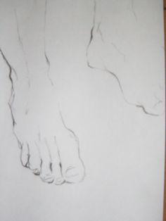 charcoal sketch foot drawing coal foots węglem węgiel szkic rysunek stopy