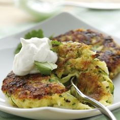 Healthy low calorie recipe for zucchini fritters