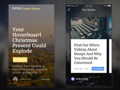 Part of a UI Kit for any News App.