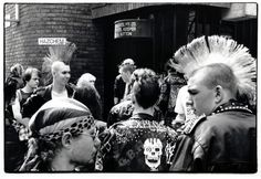 Punks on their annual pub crawl in Melbourne, 1989.pic Ross Hipwell