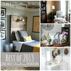 Top Projects of 2013 by Chic on a Shoestring Decorating, great decorating and DIY ideas!