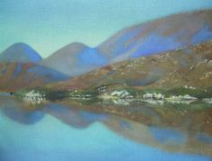 Landscape painting of Lakes at Killarney Irish Landscape, Contemporary Landscape, Landscape Art, Landscape Paintings, Garden Painting, Lakes, Scenery, Artist, Landscape