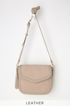 e01940bd4597 Lulus Exclusive! The Lulus Hudson Taupe Suede Leather Purse is all you need  to pull