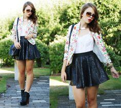 Sheinside Blazer, Chicnova Bag, Bankfashion Skirt